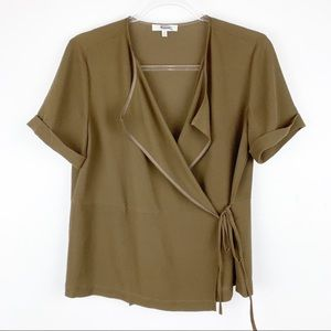 Madewell Wrap Front Crepe Top Medium
